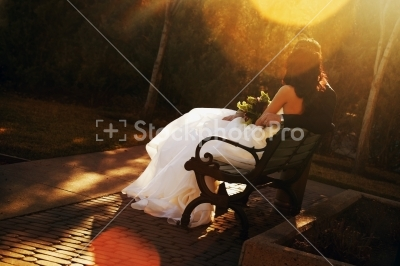عکس عاشقانه.... نیمکت تنهایی